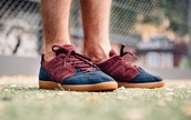 shoes,new balance,suede sneakers,low top sneakers,purple and blue