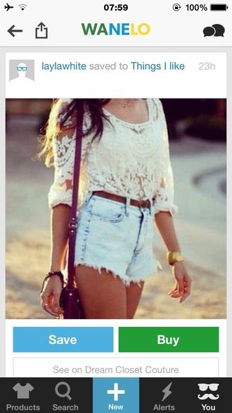 shorts denim shorts high waisted shorts blouse