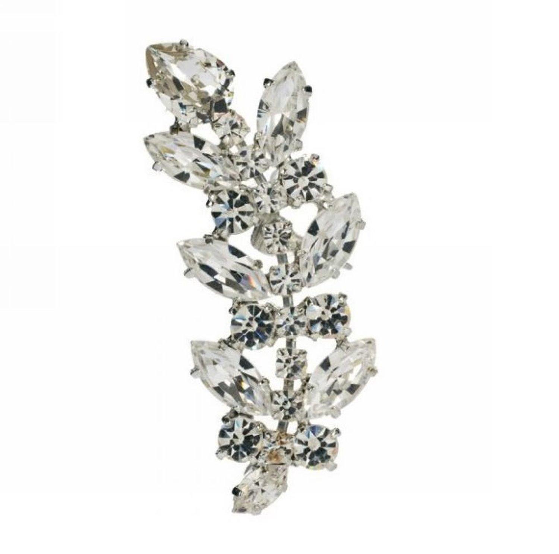 Amazon.com: wiipu cute silver leaf multi crystal ear cuff earrings stud earrings punk emo goth(d64): y shaped necklaces: jewelry