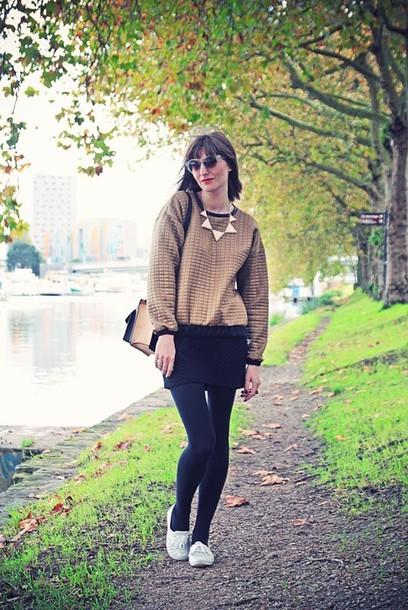 summer crush sweater jewels skirt bag sunglasses shoes