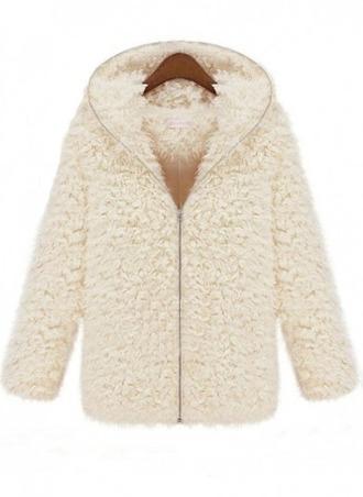 coat hooded coat fur coat