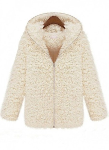 coat hooded coat fur coat
