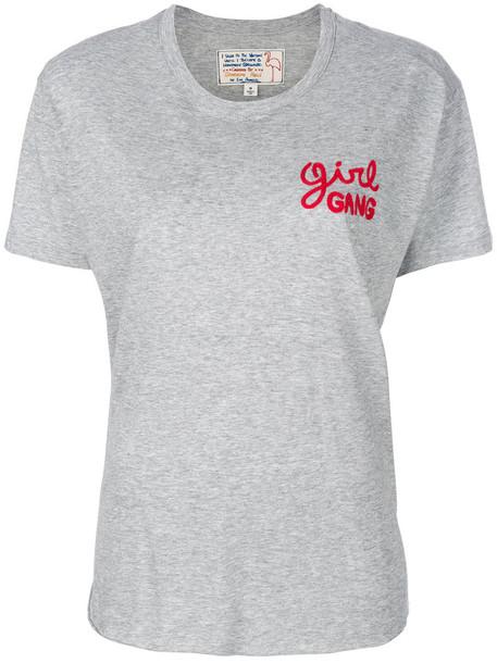 Sandrine Rose - girl gang T-shirt - women - Micromodal/Supima Cotton - L, Grey, Micromodal/Supima Cotton