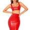 Clothing : 2 pieces : 'dita' red latex two piece