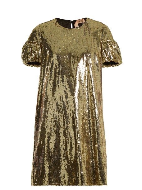 No. 21 dress mini dress mini embellished gold