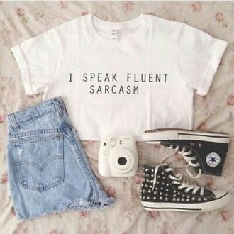 shirt sarcasm white shirt