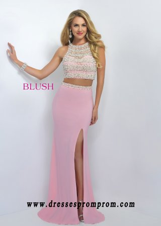 Blush Prom 11065 Beautiful Pearl Crop Top Prom Dress For Women Style ...