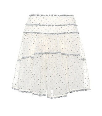 skirt heart cotton silk white
