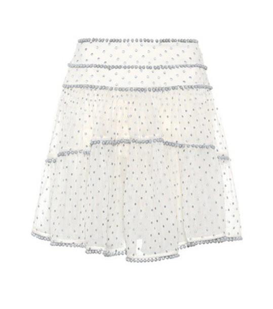 Zimmermann skirt heart cotton silk white