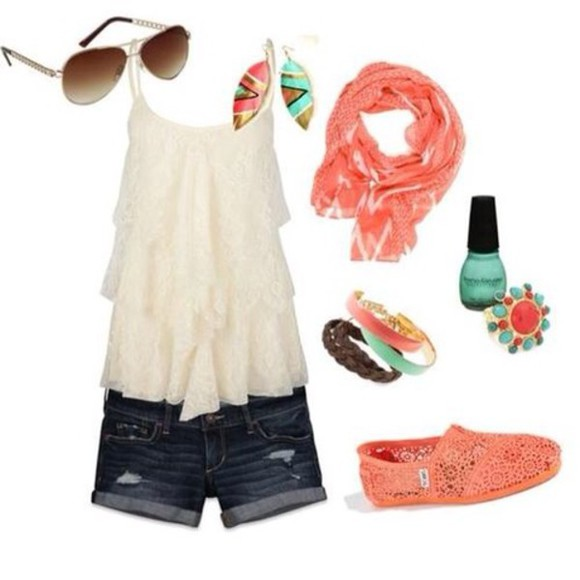 flowy tank top white ruffled