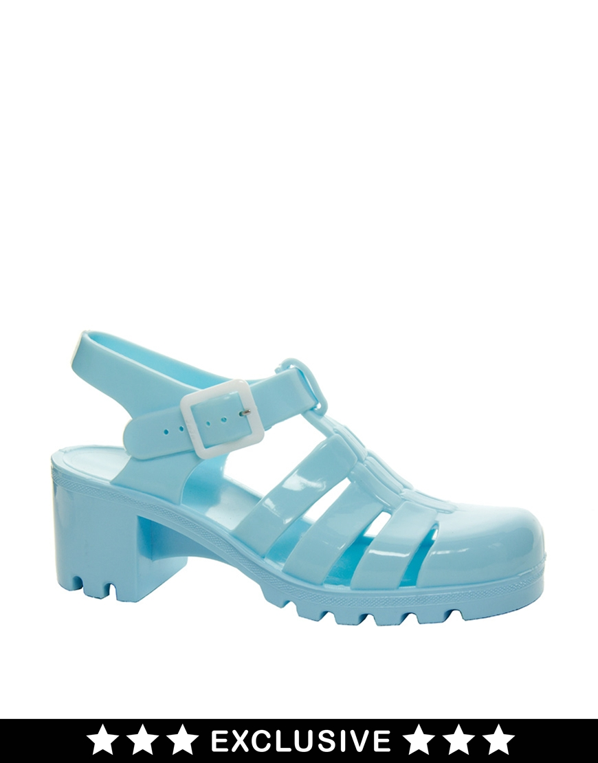 Juju Babe Pale Blue Exclusive Heeled Sandals at asos.com