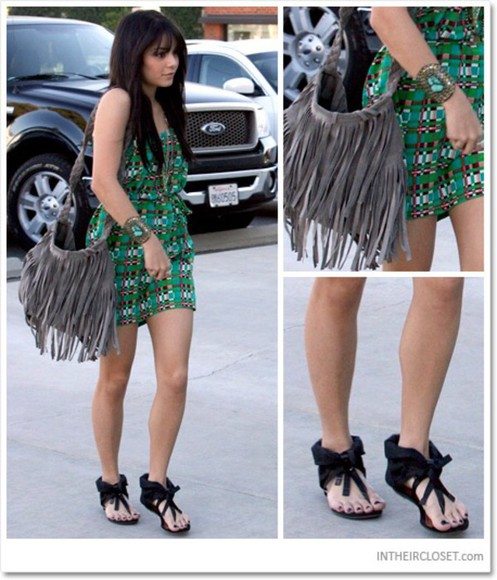 vanessa hudgens dress green dress