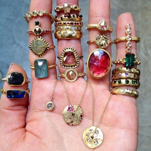 jewels stone magic bracelets chain ring stones