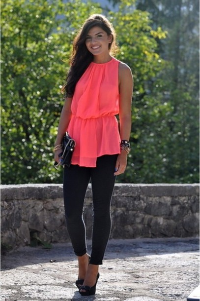 tank top neon clothes top