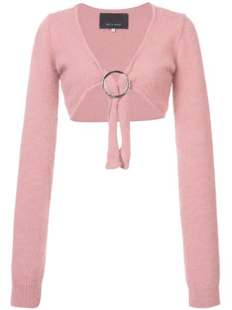 cardigan cardigan cropped women purple pink sweater