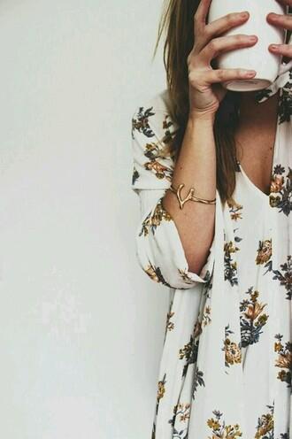dress floral dress vneck dress 3 quarter sleeve