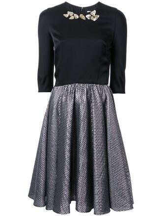 dress women texture black wool