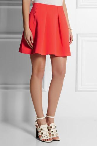 skirt orange mini skirt kenzo neoprene