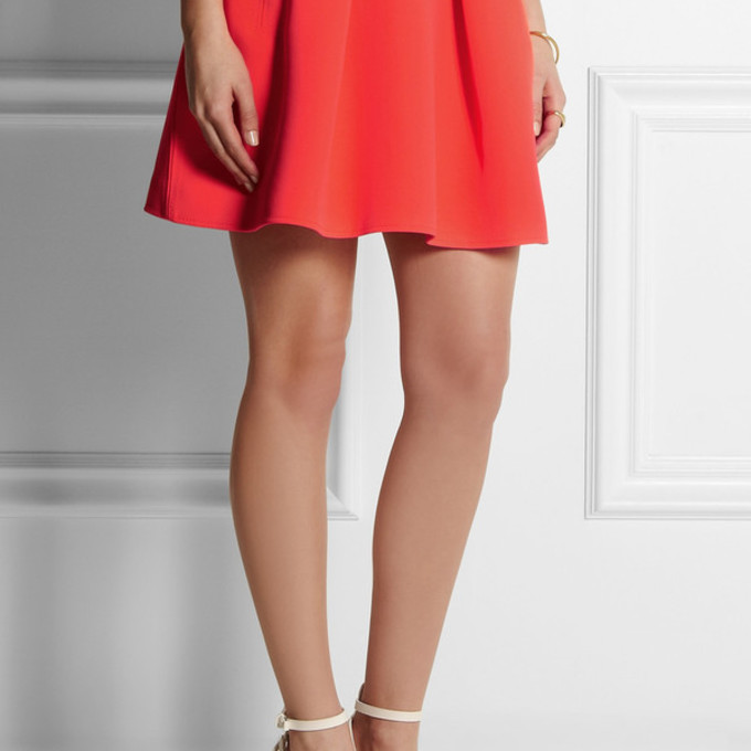 the best mini skirt orange wheretoget