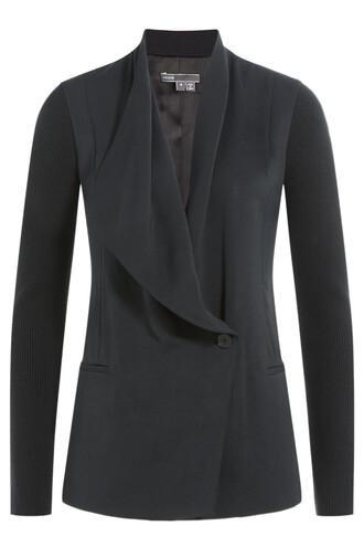 blazer draped black jacket