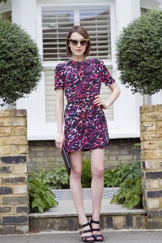 la petite anglaise dress belt shoes sunglasses cat eye animal print pattern big pattern