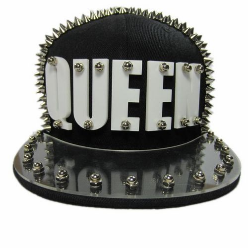 2013 Hot New Arrived Queen Cap Flat Brim Baseball Cap Punk Stud Rivet Hip hop Hat-in Baseball Caps from Apparel & Accessories on Aliexpress.com