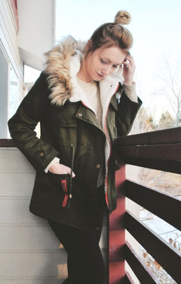 fur jacket parka hood