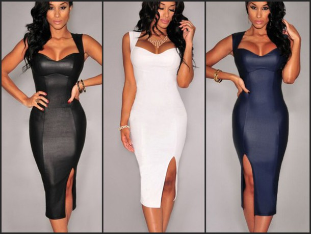 Deep Plunge Sexy Party Dresses