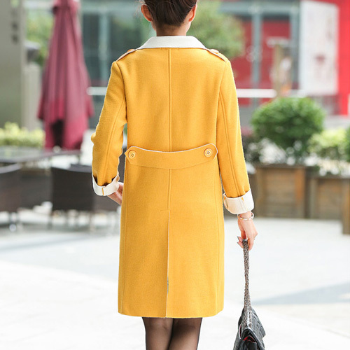 Fashion shopping mall — [gzxy0316]british style solid color long sleeve woolen coat