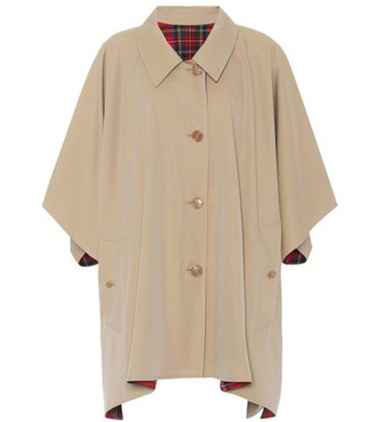 Burberry poncho cotton wool beige top