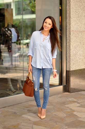 hapa time blogger blouse bag shoes