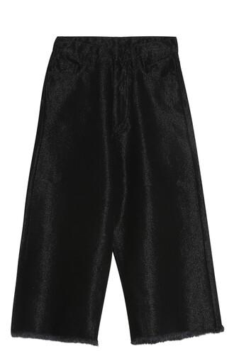 culottes denim black pants