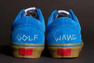 shoes vans blue golf wang tyler the creator