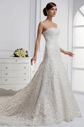 dress,wedding dress,white,white dress,beautiful,strapless dress,strapless,mermaid wedding dress,mermaid prom dress,floor length