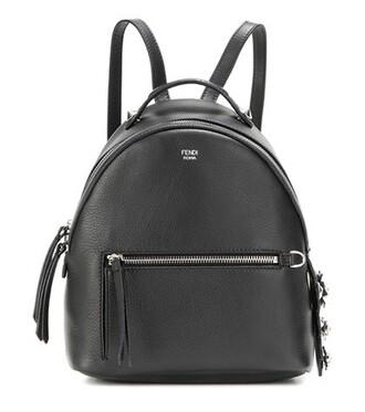 mini backpack leather backpack leather black bag