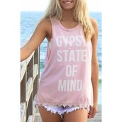 tank top,girly,pink,tan,summer,fashion,quote on it,rose wholesale-ma,top
