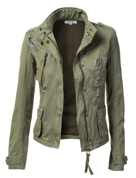 jacket military green