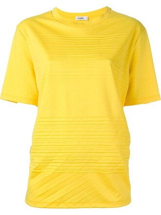t-shirt shirt yellow orange top