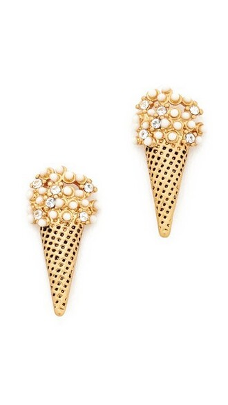 ice cream earrings stud earrings cream gold jewels