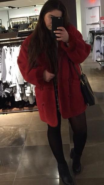 jacket black red coat red jacket red coat black dress