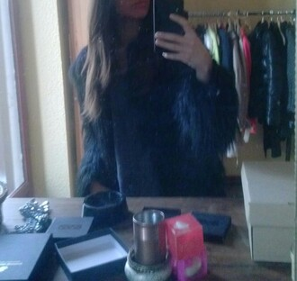 coat manteaux manteau topshop faux fur vest fur vest black fashion 2015 winter