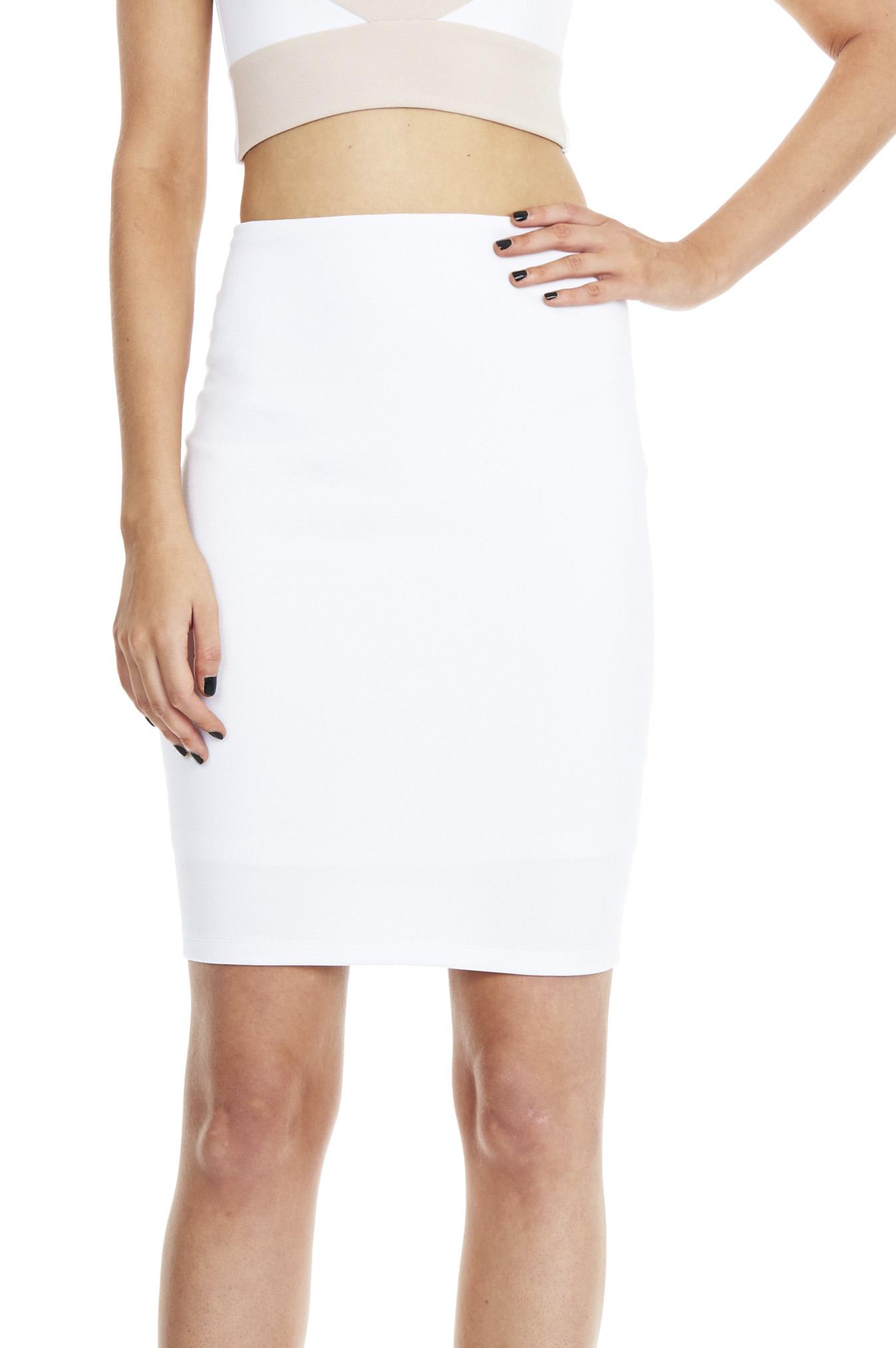 White Stadium Pencil Skirt : Buy Designer Dresses Online at Nookie