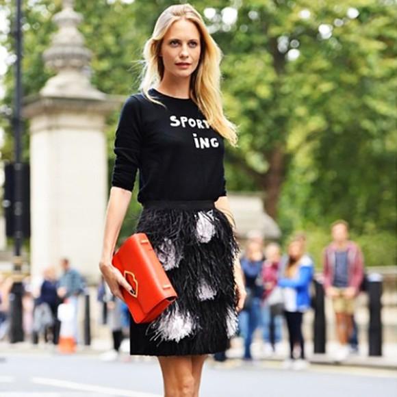 streetstyle fashion week 2014 sweater poppy delevingne