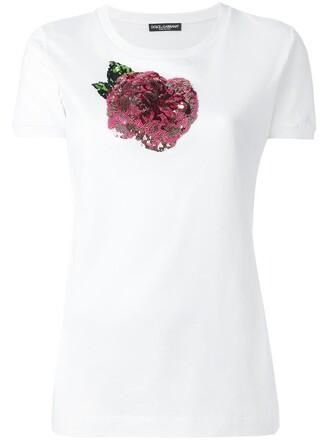 t-shirt shirt rose women white cotton top
