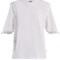 Macramé lace-trimmed cotton t-shirt