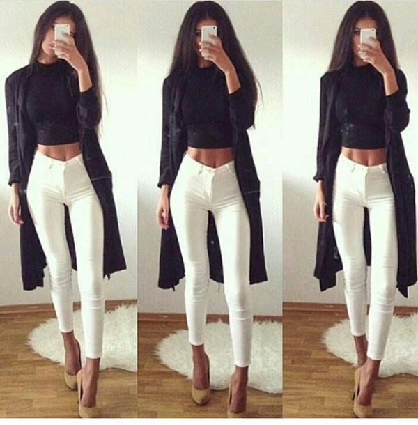 Jeans: skinny jeans, high waisted jeans, white jeans, pants ...