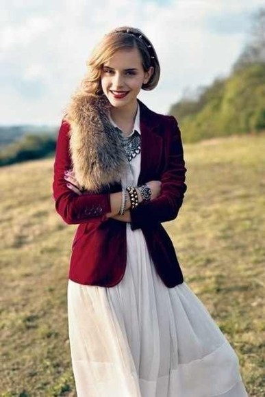 bangles jacket fur dress