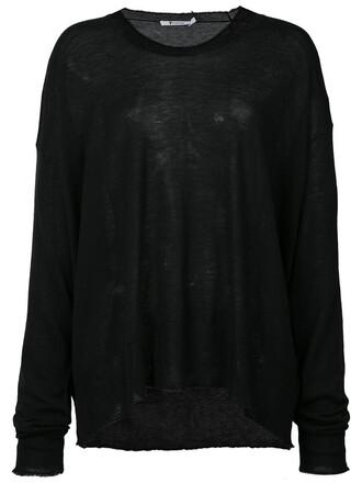 sweater knitted sweater women black