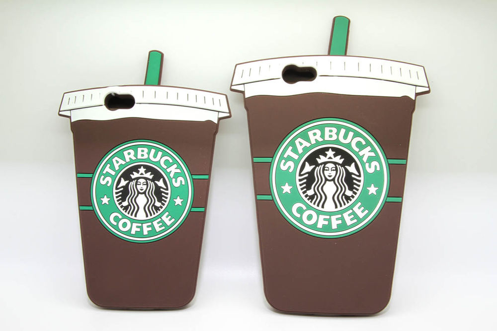 Starbucks coffee cup style soft silicone iphone 6  case for iphone 6 plus 5.5