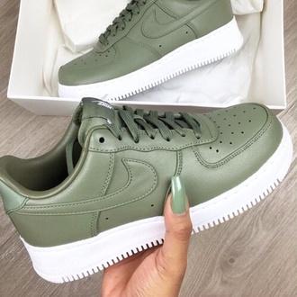 shoes nike green nike shoes nike air force 1 khaki